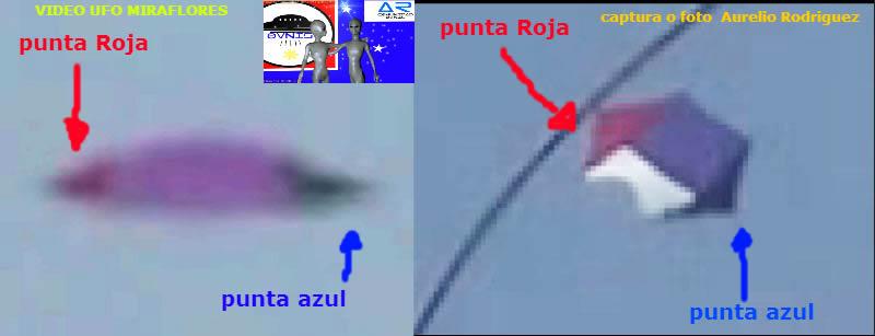 Comparación entre cometa fotografiada y objeto volador de Miraflores