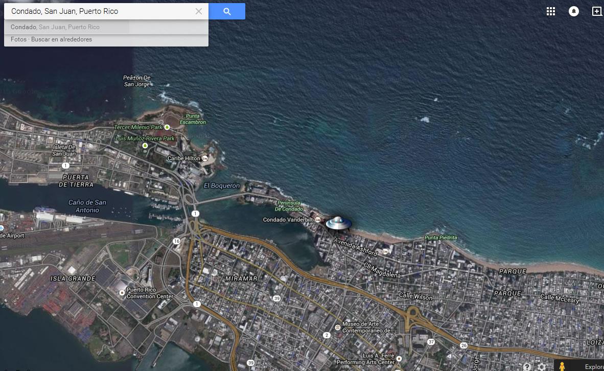 Ubicación del avistamiento: Comunidad de Condado - Puerto Rico