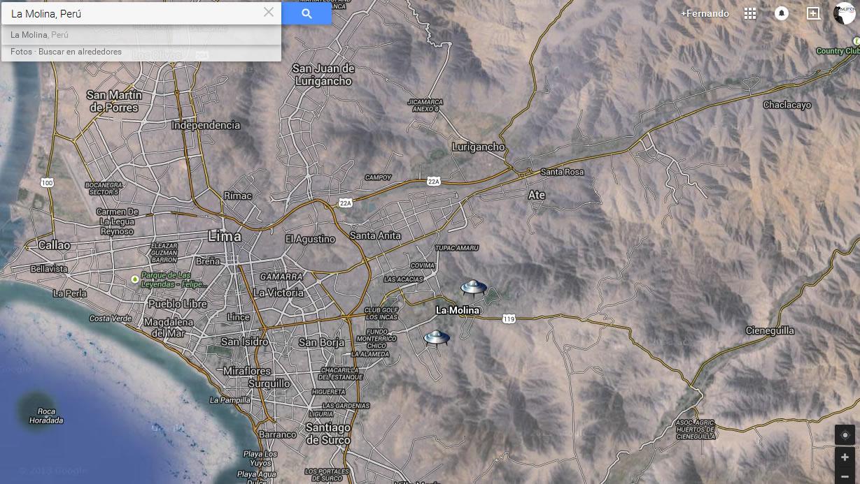 Ubicación del Distrito de la Molina (Lima, Perú)