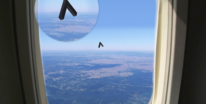 Testigo reporta avistamiento de OVNI con forma de boomerang desde un vuelo en Brasil.