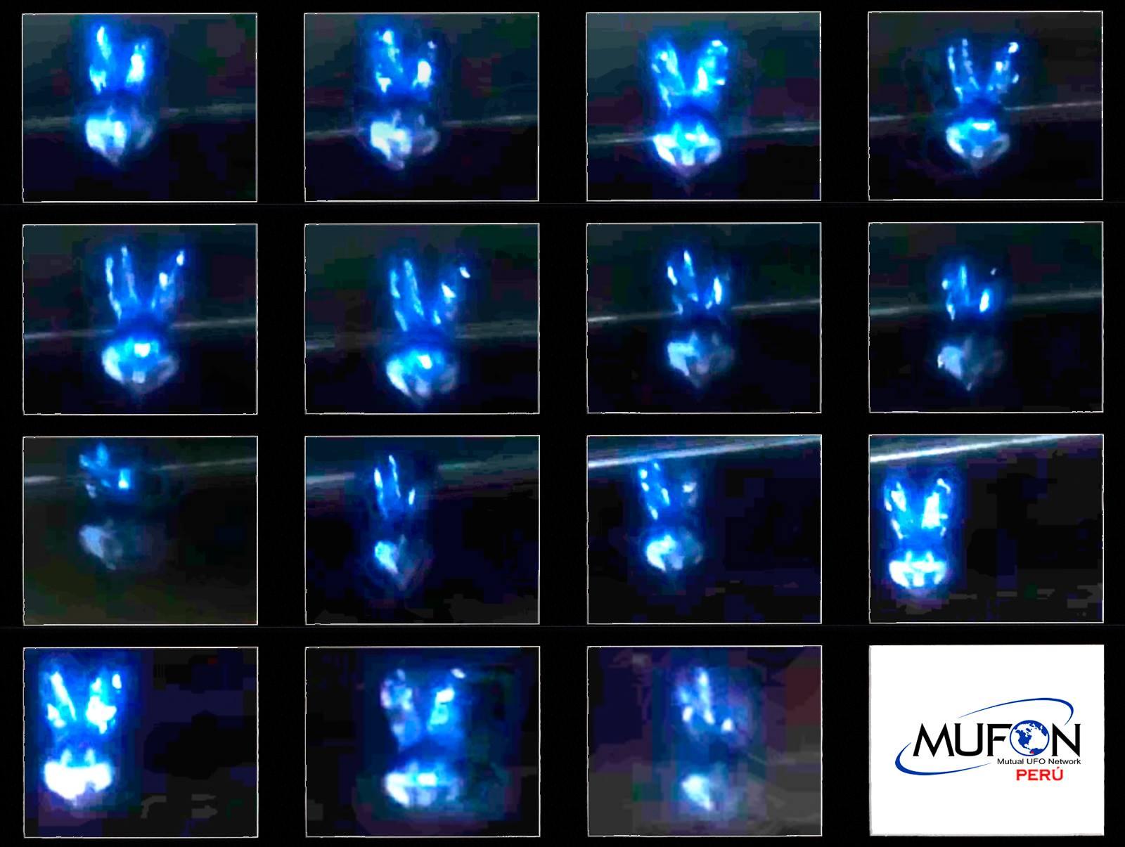 Recuento de los fotogramas que demuestran que el objeto avistado en Pachacamac no era un humanoide, ERA UN GLOBO DE HELIO.