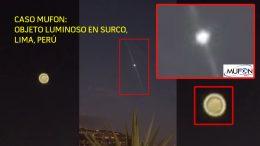 Objeto volador luminoso aparece sobre Casuarinas en Surco (Lima, Perú)