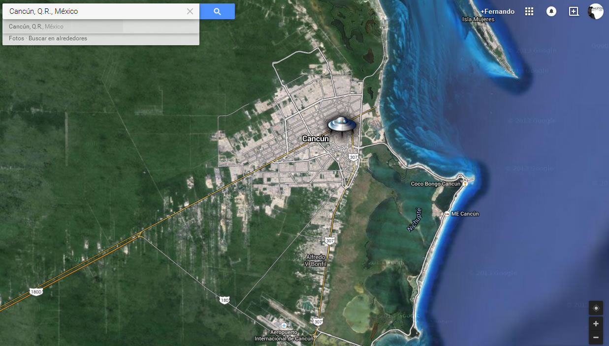 Reporte OVNI: Objetos voladores persiguiéndose entre si sobre Cancún.
