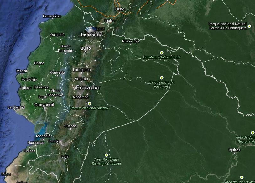 Ubicación de Imbabura, Ecuador.