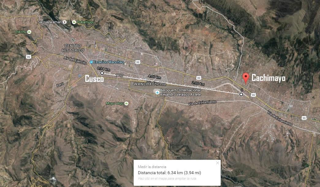 Ubicación de Cachimayo, Anta, Cusco